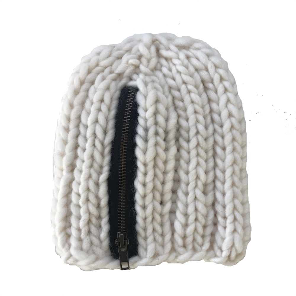BIRK beanie with zipper. Choose colour