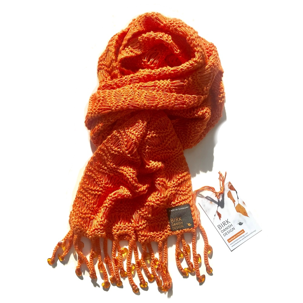 Luxury amber fringe scarf. Viscose. Choose colour